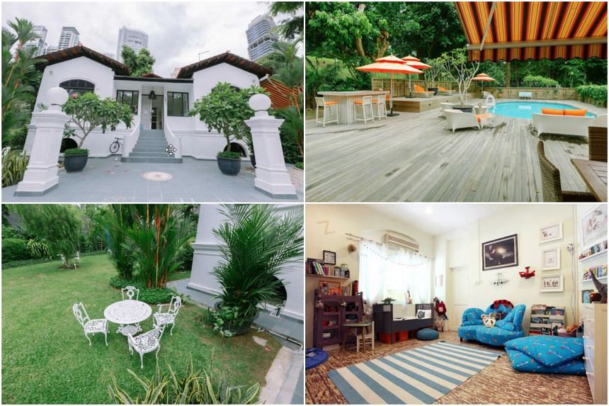 A heritage bungalow near Orchard Road listed on Airbnb.