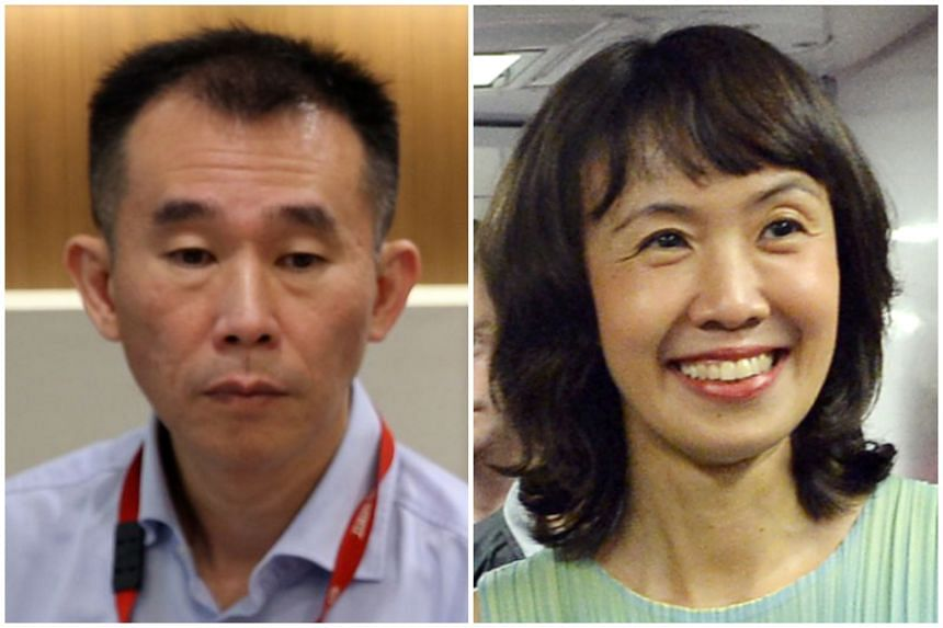 SMRT Trains chief executive Lee Ling Wee (left) and Ms Dawn Low, who heads the rail operator's commercial businesses,  are both expected to leave their posts.
