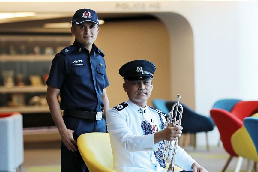 Assistant Superintendent Mohamad Fazlin Mohamad Kamal was inspired by his father, Station Inspector Mohamad Kamal Abdul Rahman, who has served in the Singapore Police Force for 41 years, to join the force.