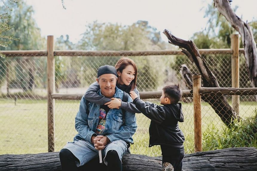 Fann Wong and family explore nature on Father's Day