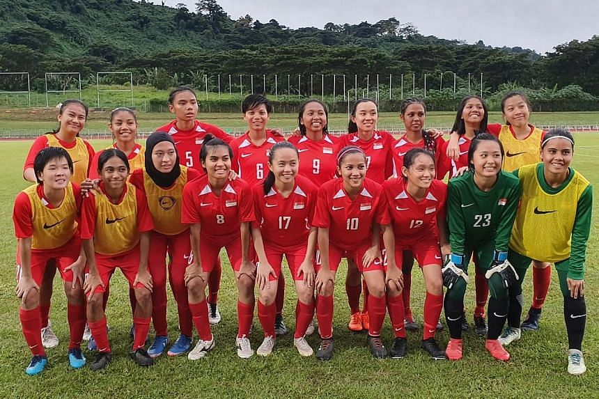 The women's national players during a playing tour in Vanuatu where they played friendly games against Vanuatu and Fiji on June 3 and 6 respectively.