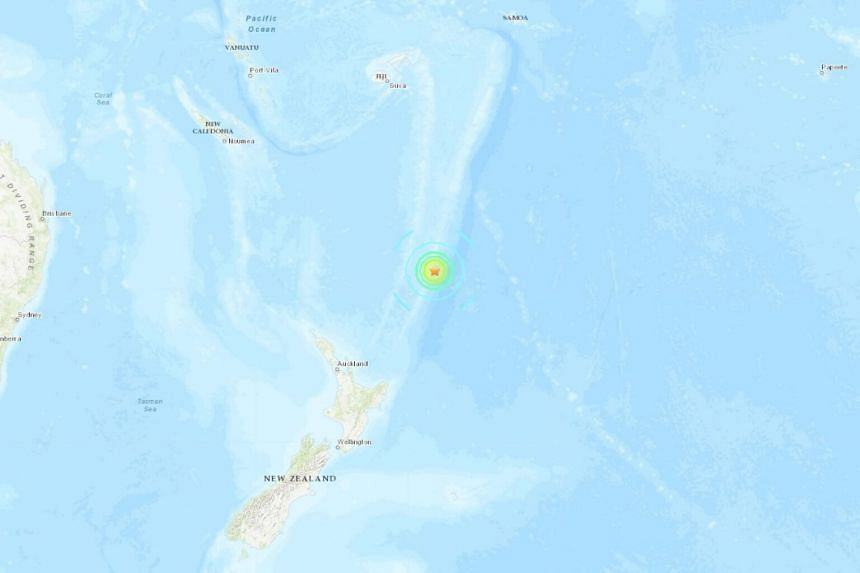 Strong quake hits island chain off New Zealand; no tsunami