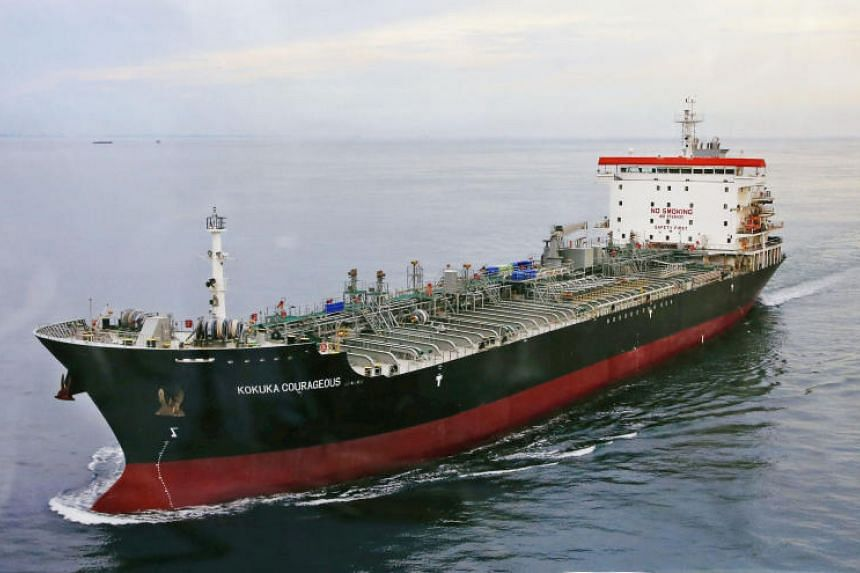 The tanker Kokuka Courageous, which was one of two ships that came under attack while in Gulf waters, arrived at Sharjah, UAE, on June 16, 2019.