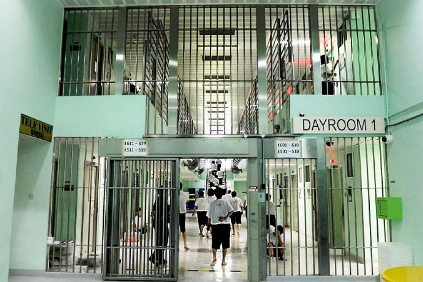 Inmates at Changi Prison Complex's A4 Institution, which is for female prisoners.