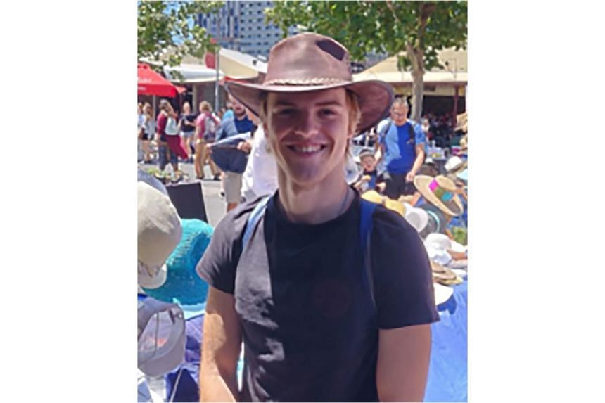 An undated photo of missing Belgian tourist Theo Hayez, 18, released by the New South Wales Police. He was last seen on May 31, 2019 in the Australian coastal tourist town of Byron Bay.