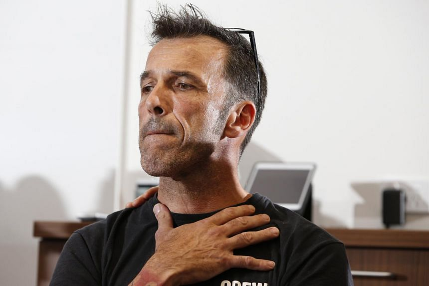 Laurent Hayez, father of missing Belgian backpacker Theo Hayez, at Tweed Heads police station in New South Wales, Australia, on June 17, 2019. The 18-year-old was last seen leaving a bar in Byron Bay after 11pm on May 31, 2019.