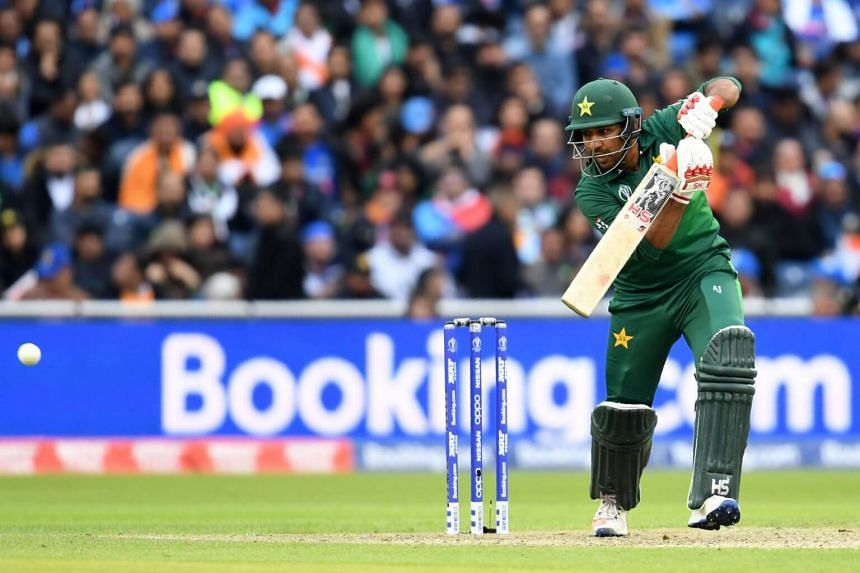 Pakistan's captain Sarfaraz Ahmed during a Cricket World Cup match between India and Pakistan at Old Trafford in Manchester, England, on June 16, 2019.