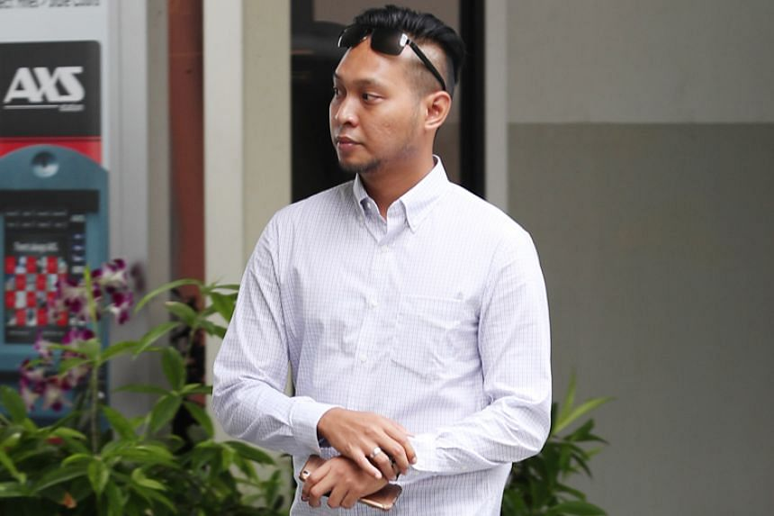 Witness Adighazali Suhaimi, a Singapore Civil Defence Force staff sergeant, arriving at the State Courts on June 17, 2019.