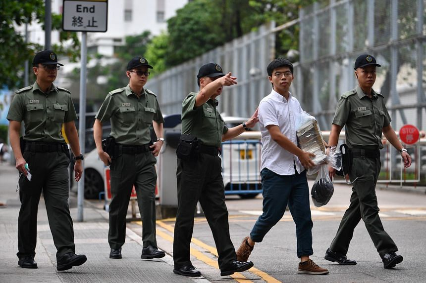 Hong Kong activist Joshua Wong walked free from prison in the morning of June 17, 2019.
