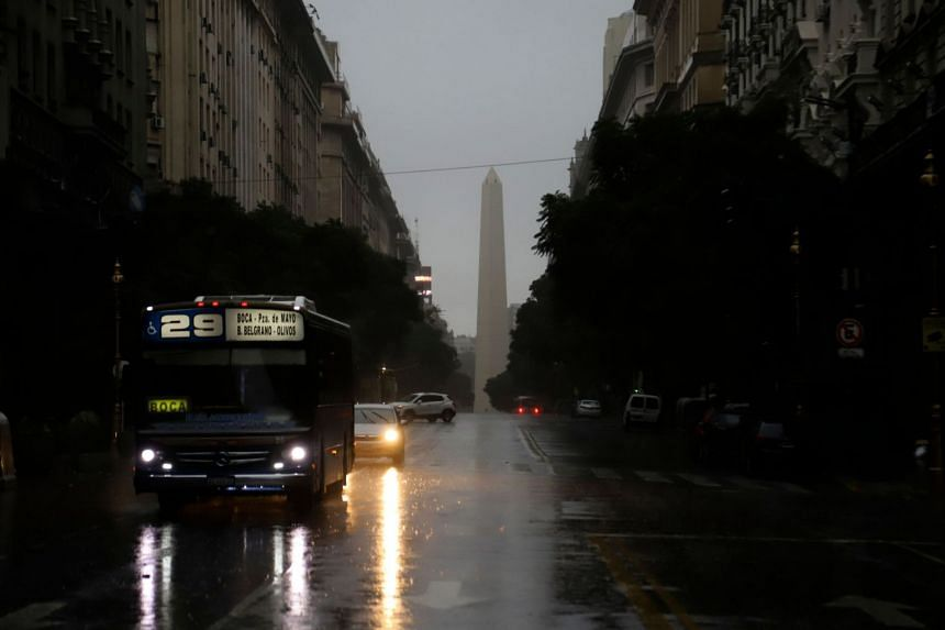 Downtown Buenos Aires on June 16, 2019, during a power cut.