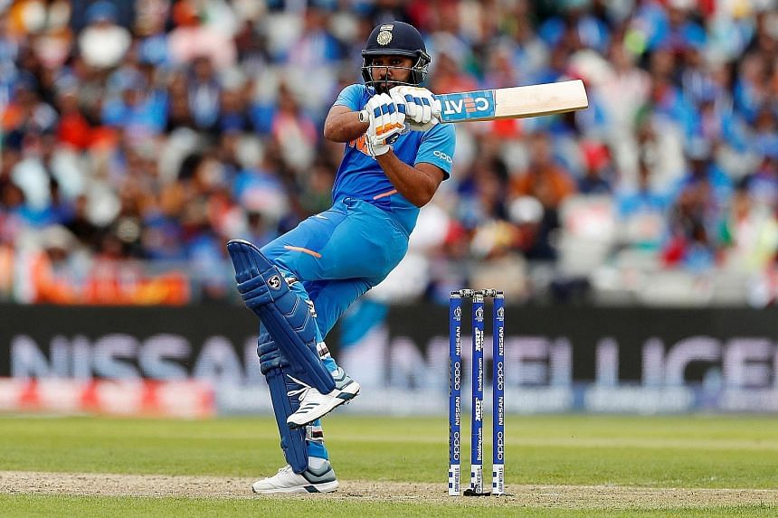 Rohit Sharma's 140, his 24th ODI ton, helped India to an 89-run win over Pakistan in their Cricket World Cup match at Old Trafford in Manchester on Sunday. PHOTO: REUTERS