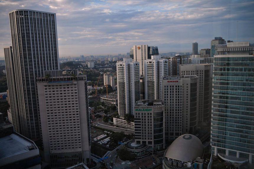 The city skyline of Kuala Lumpur, Malaysia.