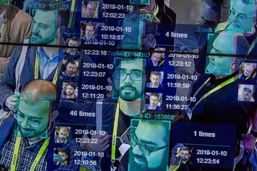 A live demonstration of artificial intelligence and facial recognition being used at the Horizon Robotics exhibit at the Las Vegas Convention Center during CES 2019 in Las Vegas on Jan 10, 2019.