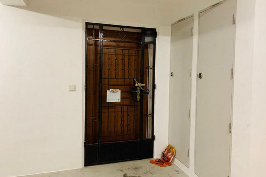 The flat in Rivervale Crescent where a two-year-old child was found lying motionless in the bedroom.