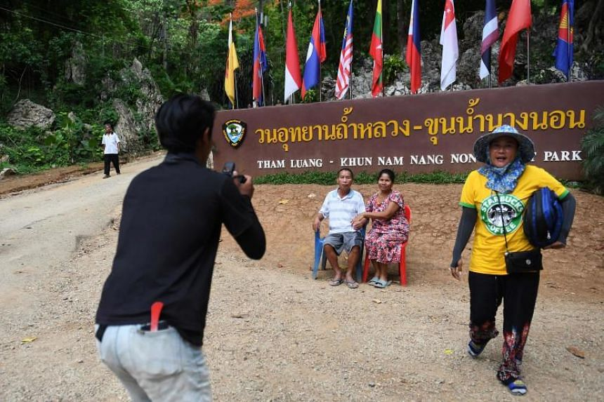 The Tham Luang cave, which previously received around 5,000 visitors a year, has been inundated by visitors both Thai and foreign.