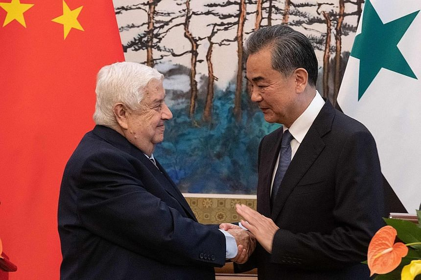 After meeting Syrian Foreign Minister Walid Muallem in Beijing, Chinese Foreign Minister Wang Yi said China was very concerned about the situation in the Gulf and with Iran.
