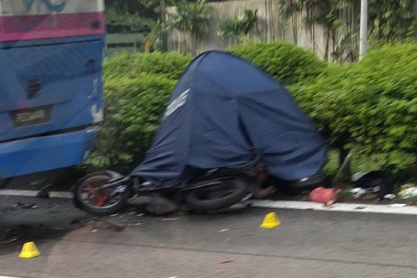 The 59-year-old motorcyclist was pronounced dead by paramedics at the scene.