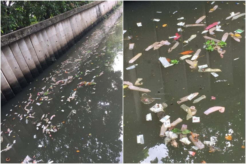 The items had been found at the weekend floating in a canal, leading to images circulated by Thai netizens expressing their disgust.