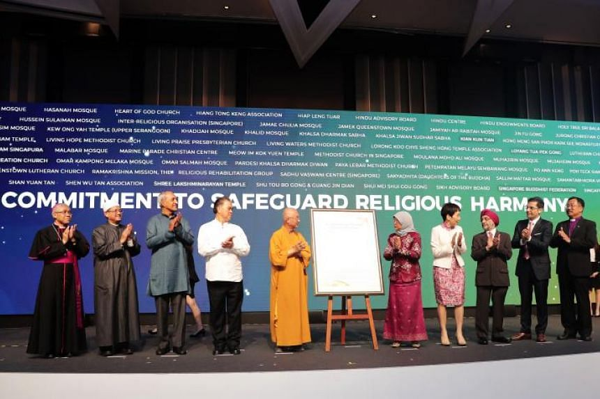 The commitment was an idea that religious leaders surfaced about two years ago, and builds on the 2003 Declaration of Religious Harmony which is briefer and more philosophical in nature.