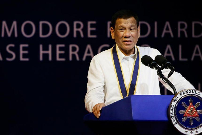 Nationalists are accusing Philippine President Rodrigo Duterte of toeing China's line.
