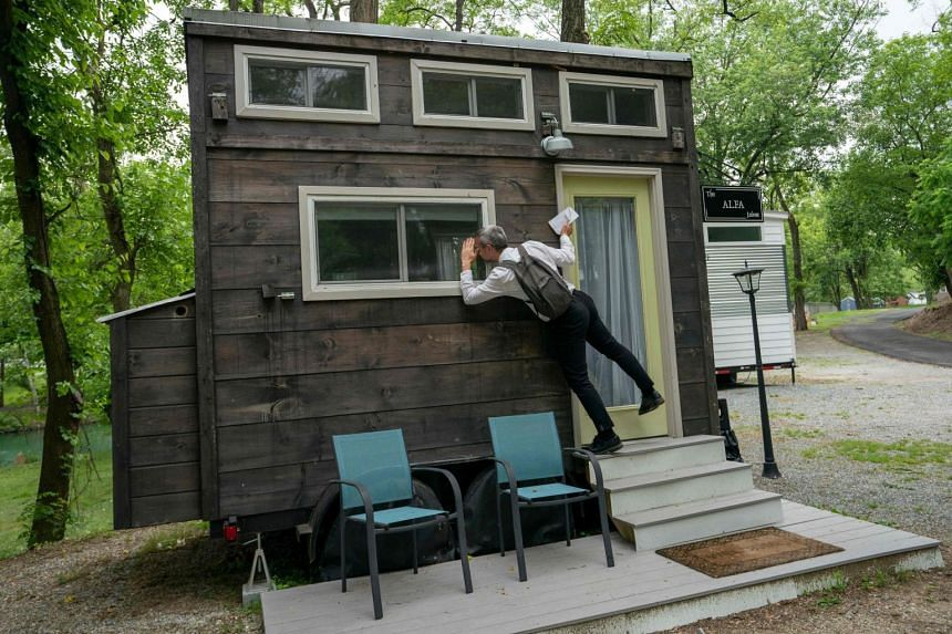 A tiny home called Alfa in the woods of Tiny Home Estates in Elizabethtown, Pennsylvania on June 5, 2019.