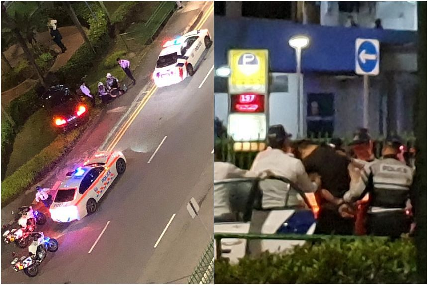 During the police officers' pursuit of the vehicle, an accident involving the man's car occurred in Geylang Bahru towards Bendemeer Road.