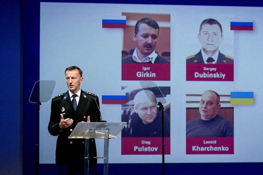 The Dutch-led international team tasked with assigning criminal responsibility for the plane's destruction named the four suspects as Russians Sergey Dubinsky, Oleg Pulatov and Igor Girkin, and Ukrainian Leonid Kharchenko.