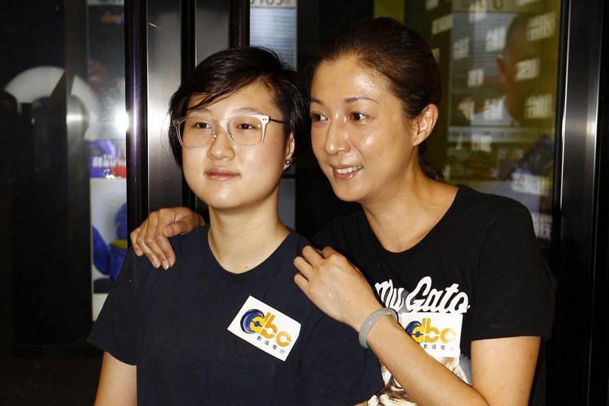 Elaine Ng with her daughter Etta, whose lifestyle choices and quarrels with her mother have regularly made headlines in Hong Kong.