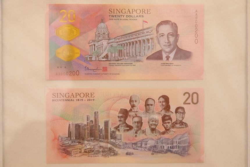 The Singapore Bicentennial commemorative currency note launched on June 5, 2019.