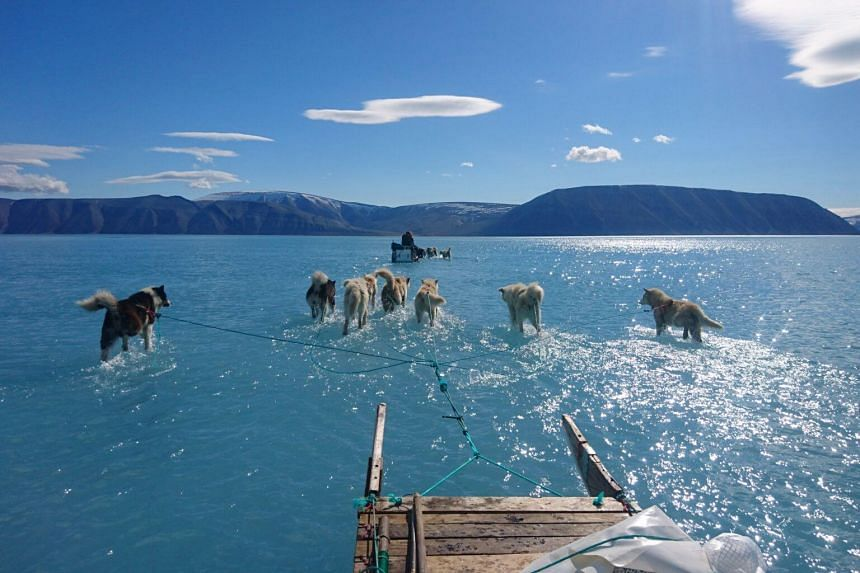 The Greenland ice sheet holds enough water to raise sea levels by 7m.
