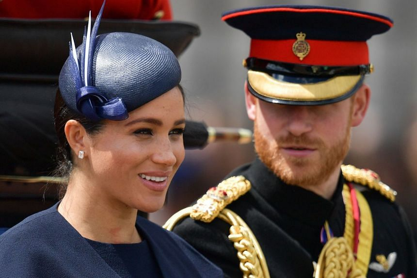 Meghan and Harry return to Buckingham Palace after the Queen's Birthday Parade in London on June 8, 2019.