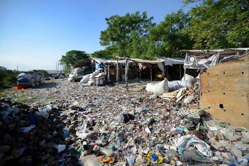A garbage sorting centre in Denpasar, Bali, on June 20, 2019.