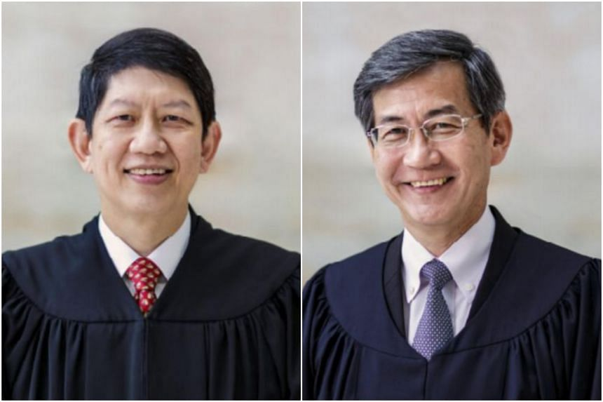 Justice Woo Bih Li's (left) extension will be effective from Dec 31, 2019 while Justice Tan Siong Thye's tenure will be extended from June 22, 2019.