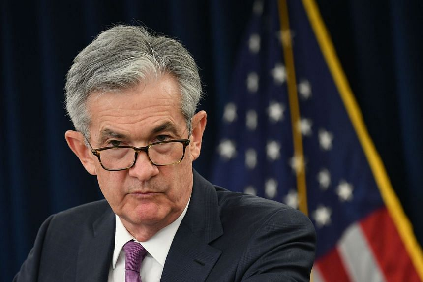 Federal Reserve Board Chair Jerome Powell speaks during a press conference in May 2019.