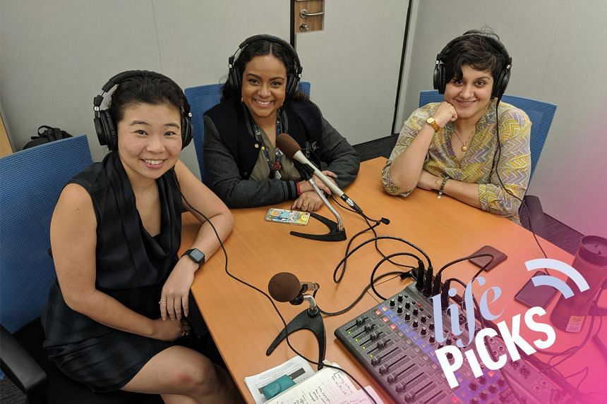(From left) Life Picks host Melissa Sim chats with colleagues Anjali Raguraman and Akshita Nanda about the best things to do in Singapore from June 20-July 4.