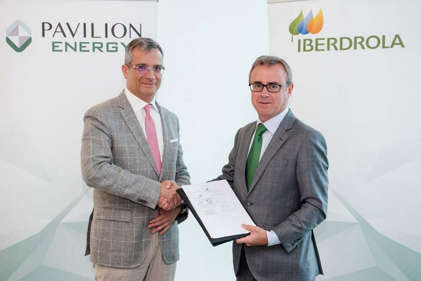 Mr Frédéric H Barnaud (left), group CEO of Pavilion Energy, and Mr Aitor Moso, CEO of Liberalised Business, Iberdrola.