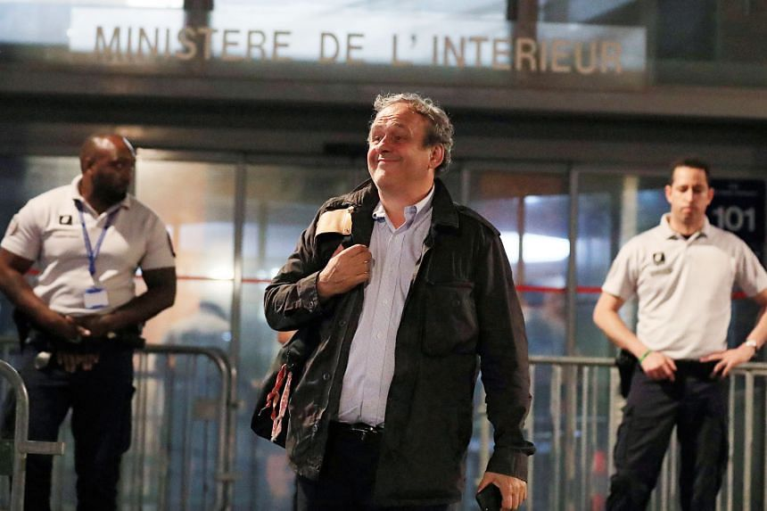 Former Uefa president Michel Platini leaving a police station outside Paris where he was detained for questioning over the awarding of the 2022 Qatar World Cup. He has maintained his innocence in the affair.