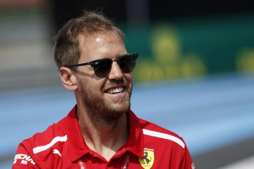 The penalty was given to Ferrari's Sebastian Vettel for rejoining the race unsafely after going off track and across a strip of grass.
