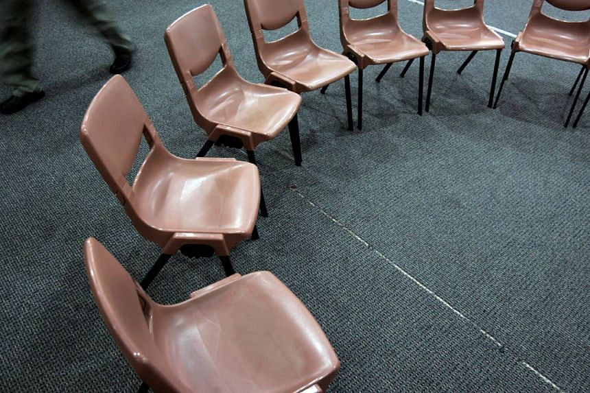 A circle of chairs used during counselling sessions for gambling addicts.