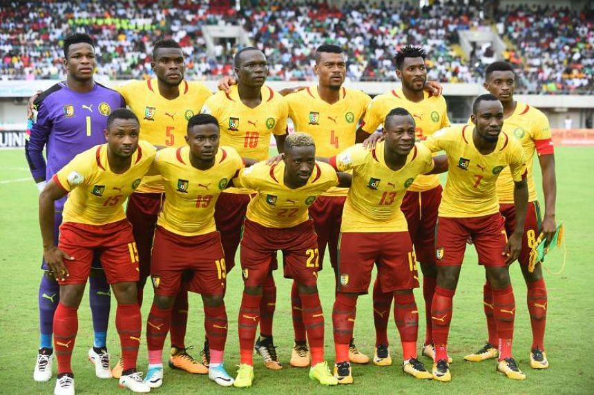 The Cameroon national football team in September 2017.
