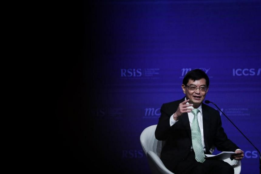 Deputy Prime Minister Heng Swee Keat speaking at the International Conference on Cohesive Societies on June 21, 2019.