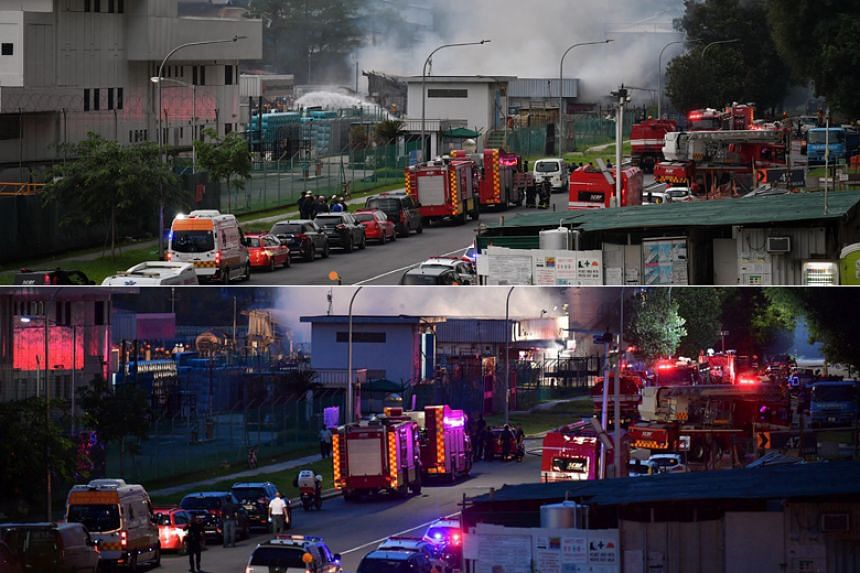 A total of 35 emergency vehicles and 120 firefighters were deployed to the scene.