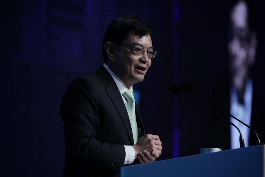 Deputy Prime Minister Heng Swee Keat speaking at the International Conference on Cohesive Societies, on June 21, 2019.