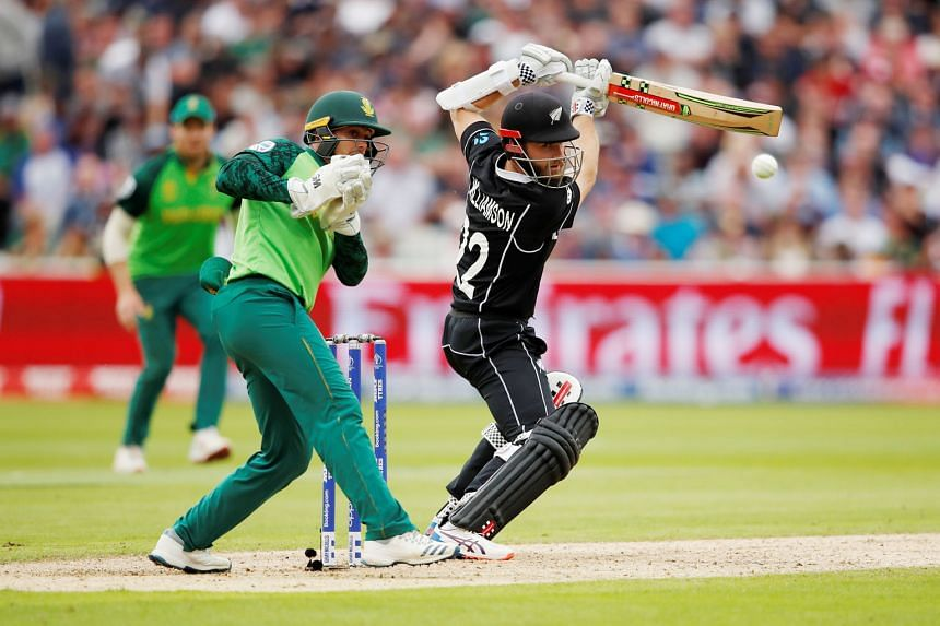 Kane Williamson pulling New Zealand through with a captain's innings against South Africa in their Cricket World Cup match on Wednesday. At Edgbaston in Birmingham, his patient 106 off 138 balls enabled his side to win by four wickets to top the 10-t
