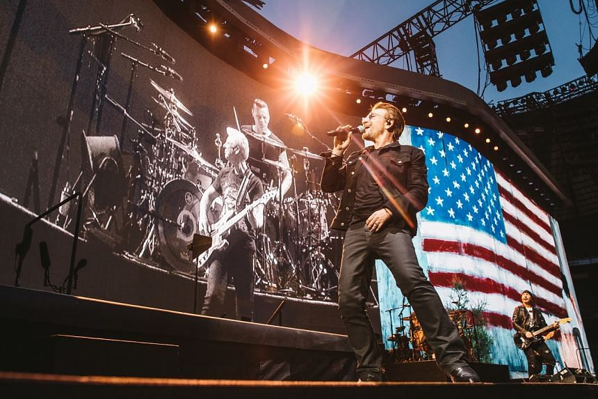 The gigs by Irish band U2 (above) will be their first in Singapore.