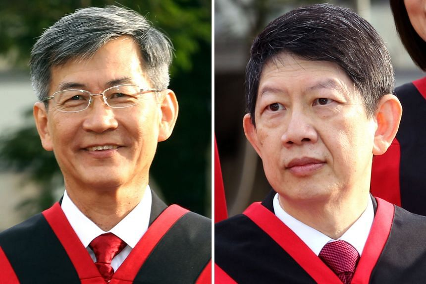 The tenure of Justice Tan Siong Thye (left) will be extended from tomorrow while that of Justice Woo Bih Li will be effective from Dec 31.