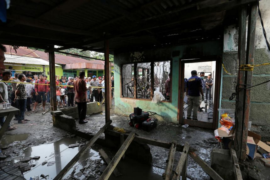 The fire ripped through a rented home that operated as a lighter factory in the town of Binjai, in Indonesia's North Sumatra province.
