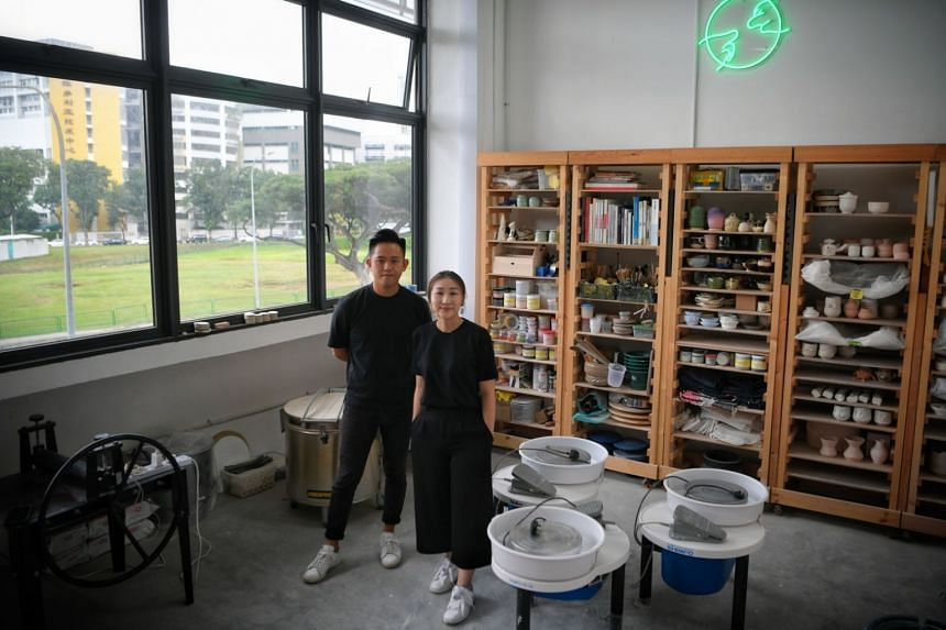 Founders of pottery and ceramic homeware studio Common Touch Craft Unit, Zestro Leow and Fyon Cheong.