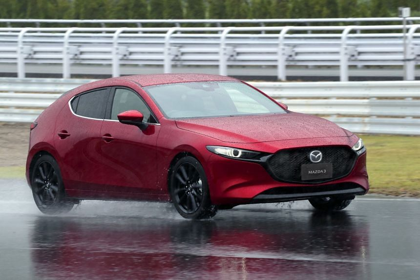 The steering of the Mazda 3, compared with its predecessor, is meatier and sharper and the car reacts more progressively to bumps and undulations.