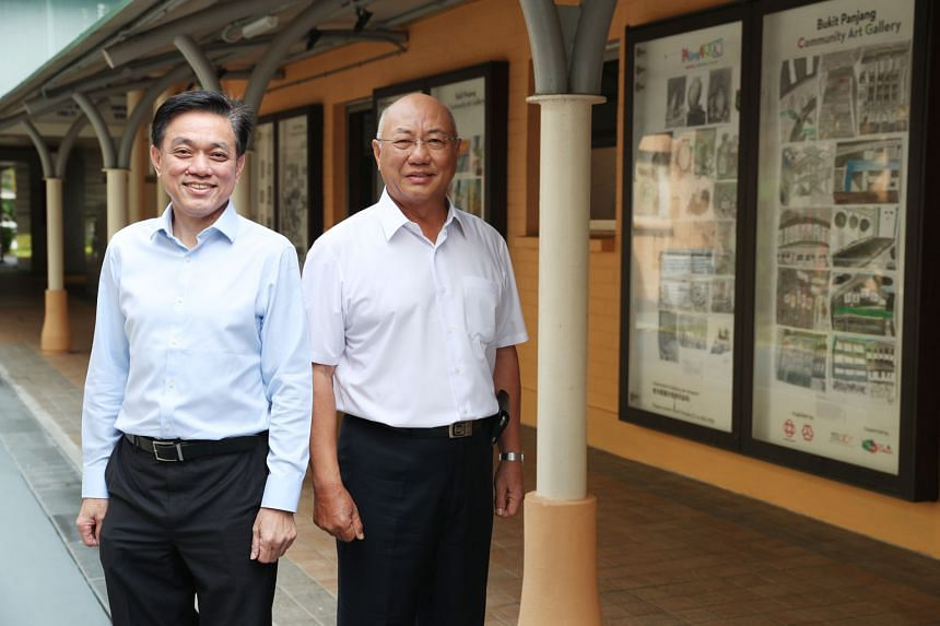 Mr Louis Tay (left) and Mr Ong Han Cheong have served in the Holland-Bukit Panjang Town Council for almost 10 years. Given the shortage of qualified volunteers, they have been rotated among several committees. ST PHOTO: TIMOTHY DAVID